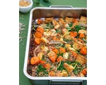 Couscous and Root Vegetable Tray Bake
