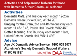 Malvern Dementia Action Alliance - DAA