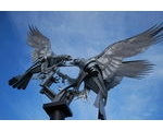 Buzzards Sculpture: Rosebank Gardens in Malvern