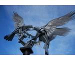 Buzzards Sculpture: Rosebank Gardens in Malvern