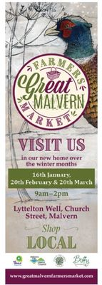 Great Malvern Farmers Market - FEBRUARY CANCELLED