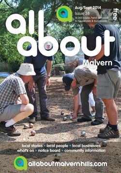 All About Malvern Aug/Sept 2014 - All About Malvern