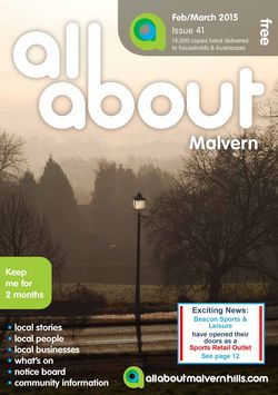 All About Malvern Feb/March 2015 - All About Malvern