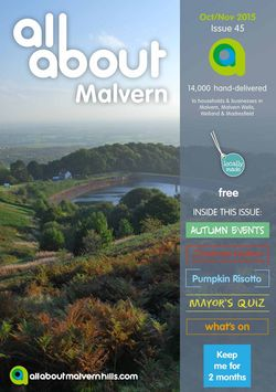 All About Malvern Oct/Nov 2015 - All About Malvern