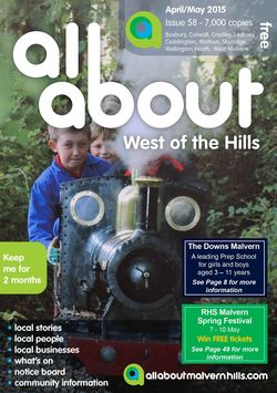 All About West of the Hills April/May 2015 - All About West of the Hills