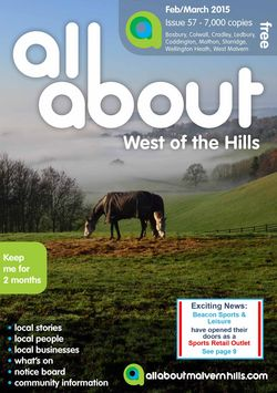 All About West of the Hills Feb/March 2015 - All About West of the Hills
