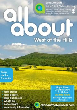 All About West of the Hills June/July 2015 - All About West of the Hills