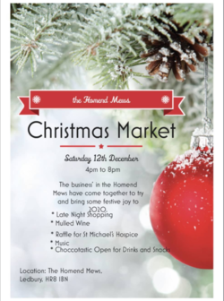 Outdoor Christmas Market : The Homend Mews -