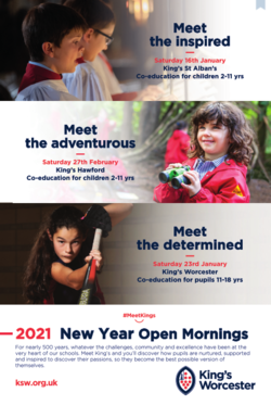 King's Worcester Open Mornings 2021 -