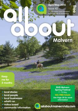 All About Malvern April/May 2015 - All About Malvern