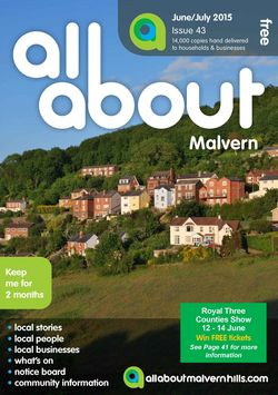 All About Malvern June/July 2015 - All About Malvern