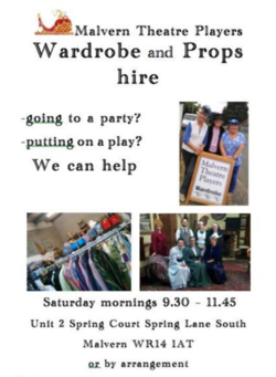 Malvern Theatre Players Wardrobe & Prop Hire