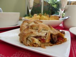 Our Lizzy Recipe: Mushroom & Roasted Pepper Strudel (Vegan) - Our Lizzy Recipe