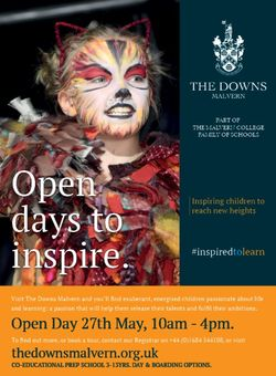 The Downs Malvern Open Day