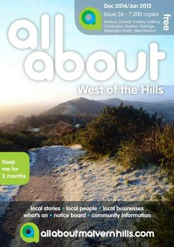 All About West of the Hills Dec/Jan 15 - All About West of the Hills